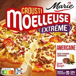 Marie Marie Crousti Moelleuses - Pizza Extrême L'Américaine bœuf-cheddar cornichons la boite de 530 g