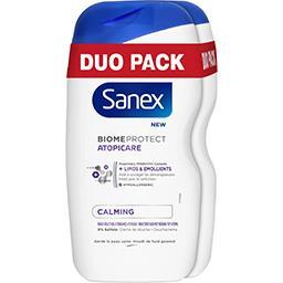 Sanex Sanex BiomeProtect - Crème de douche Atopicaire les 2 flacons de 400 ml - Duo Pack