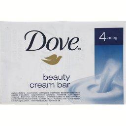Dove Dove Pains de toilette de crème hydratante les 4 pains de 100g