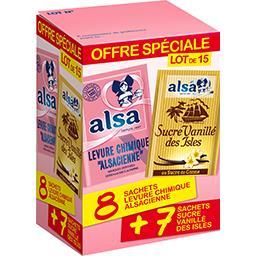 Alsa Alsa Assortiment de levure chimique et sucre vanillé la boite de 140,5 g