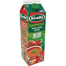 Alvalle Alvalle Soupe froide tomate menthe & basilic la brique de 1 l