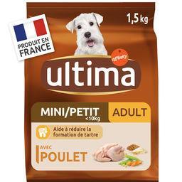 Ultima Ultima croquettes pour chien mini adulte poulet le sac de 1,5 kg