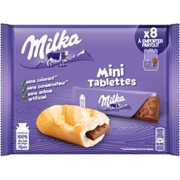 Milka Milka Mini tablettes chocolat au lait les 8 tablettes de 25 g