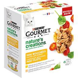 Gourmet Gourmet Mini bouchées Nature's Creation poulet et dinde pour chats les 8 sachets de 85 g