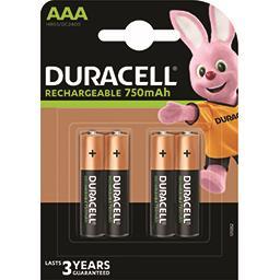 Duracell Duracell Piles RCR 750mah AAA le pack de 4 piles