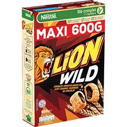 Nestlé Nestlé Céréales Lion - Céréales Wild caramel fourrées chocolat la boite de 600 g