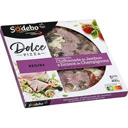 Sodeb'O Sodebo Dolce Pizza - Pizza Regina, mozzarella jambon & champignons la boite de 400 g
