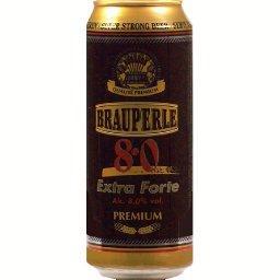 Brauperle Brauperle Bière premium super strong  la boîte,0,5l