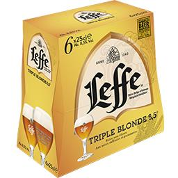 Leffe Leffe Triple - Bière blonde triple les 6 bouteilles de 25 cl