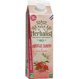 Herbalist Herbalist Boisson à l'Hibiscus Sureau Groseille Bio la brique de 1l
