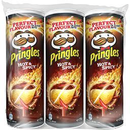 Pringles Pringles Tuiles piquantes hot & spicy les 3 boîtes de 175g - 525g