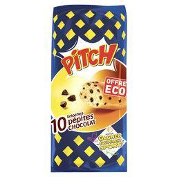 Pasquier Brioche Pasquier Pitch - Brioches pépites de chocolat les 12 brioches de 37,5 g