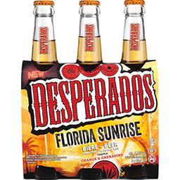 Desperados Desperados Bière Florida Sunrise aromatisé Téquila orange & grenadine les 3 bouteilles de 33 cl