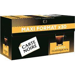 Carte Noire Carte Noire Capsules de café moulu Espresso Classique Lungo la boite de 30 - 168 g - Maxi Format