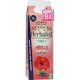 Herbalist Herbalist Boisson à l'Hibiscus Cassis Bio la brique de 1l