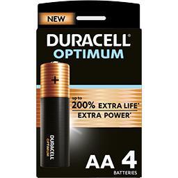 Duracell Duracell Pile AA 1,5V Alkaline Optimum les 4 piles
