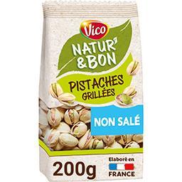 Vico Vico Natur' & Bon - Pistaches grillées non salées le sachet de 200 g