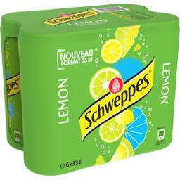 Schweppes Schweppes Boisson Lemon aux saveurs de citron, citron vert les 6 canettes de 33 cl