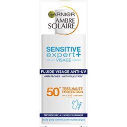 Garnier Ambre Solaire Sensitive expert+ - Fluide visage anti-UV FPS 50 le flacon de 40 ml