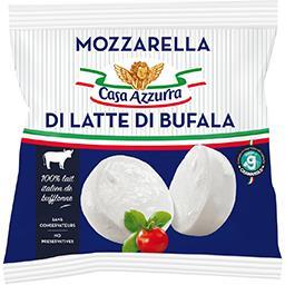 Casa Azzurra Casa azzurra Mozzarella Di Bufala Campana le sachet de 125 g net égoutté