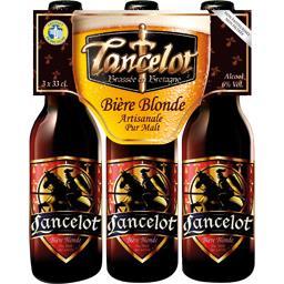 Brasserie Lancelot Lancelot Bière blonde les 3 bouteilles de 33 cl