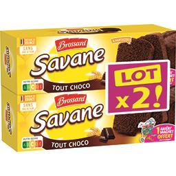 Brossard Brossard Savane - Gâteau tout choco les 2 boites de 310 g