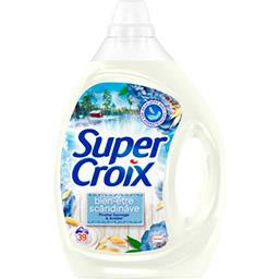 Super Croix Super Croix Lessive liquide Bien-Etre Scandinave pivoine & avoine le bidon de 1,95 l