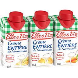 Elle & Vire Elle & Vire Crème entière de Normandie les 3 briques de 20 cl