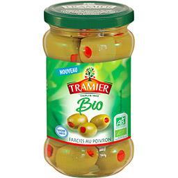 Tramier Tramier Olives farcies au poivron BIO le bocal de 150 g