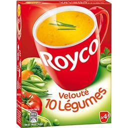 Royco Royco Soupe instantanée Velouté 10 légumes les 4 sachets de 12,4 g