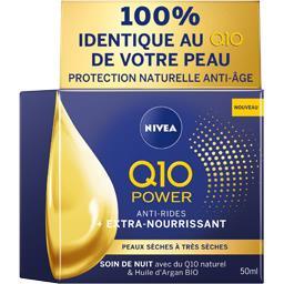 Nivea Nivea Q10 Power - Soin de nuit Anti-rides Extra-nourrissant le pot de 50 ml