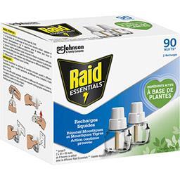 Raid Raid Essentials - Recharge pour diffuseur répulsif moustiques les 2 recharges de 32 ml