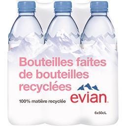 Evian Evian Eau minérale naturelle le pack de 6 bouteilles de 50cl
