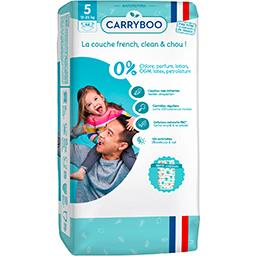 Carryboo Carryboo Couches non-irritantes motifs 'hiboux' T5 : 12-25 kg le paquet de 44
