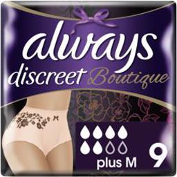 Always Always Discreet - boutique - culottes pour fuites urinaires taille m Le paquet de 9