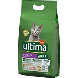 Ultima Ultima croquettes pour chat stérilisé adulte poulet le sac de 3 kg