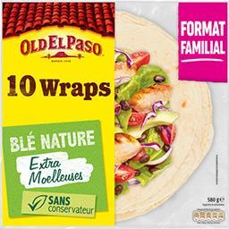 Old El Paso Old El Paso Wraps blé nature le paquet de 10 - 580 g