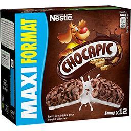 Nestlé Nestlé Chocapic - Barres de céréales au chocolat les 12 barres de 25 g