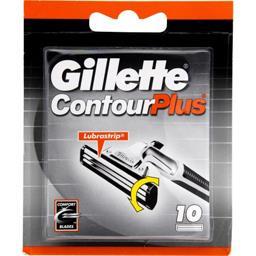 Gillette Gillette Lames de rasoir - ContourPlus la boîte de 10 cartouches