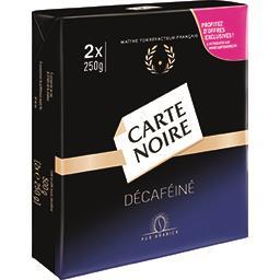 Carte Noire Carte Noire Café moulu décaféiné les 2 paquets de 250 g