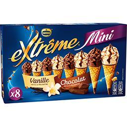 Nestlé Extrême Mini cônes vanille-chocolat la boite de 8 - 312 g