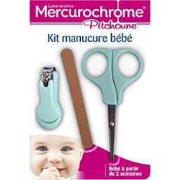 Mercurochrome Mercurochrome Pitchoune - Kit manucure bébé le kit