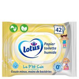 Lotus Lotus Le ptit coin - Papier toilette humide enfant les 42 lingettes