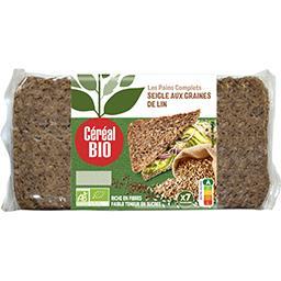 Céréal Bio Céréal Bio Pain complet de seigle BIO le paquet 7 tranches - 500 g