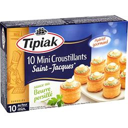 Tipiak Tipiak Mini croustillant Saint-Jacques sauce au beurre persillé la boite de 120 g