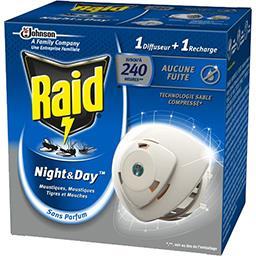 Night & Day - Diffuseur anti-moustiques, Moustiques tigres et mouches