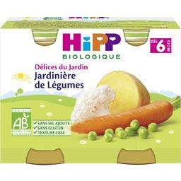 HiPP Hipp biologique Délices du Jardin - Jardinière de légumes BIO, dès 6 mois les 2 pots de 190 g