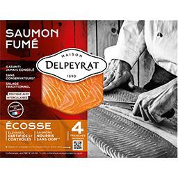 Delpeyrat Delpeyrat Saumon fumé  élevé en Ecosse Le paquet de 4 tranches - 120g