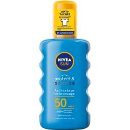 Nivea Nivea Sun - Spray autobronzant Protect & bronze FPS 50 le spray de 200 ml