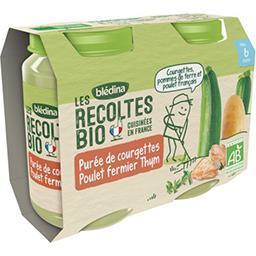 Blédina Blédina Les Récoltes BIO - Courgettes poulet thym BIO, dès 6 mois les 2 pots de 200 g